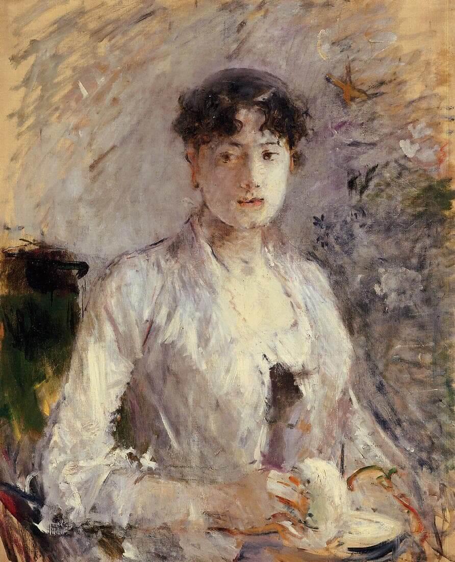 """Młoda kobieta w fiołkach"" - Berthe Morisot"